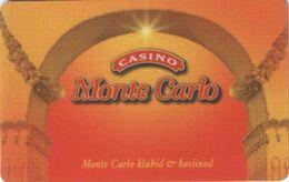 ESTONIA  KEY  CASINO Monte Carlo - TALLINN - Carte Di Casinò