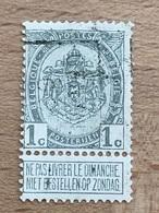 1318A Genval 09 TB Cachet Peu Lisible - Roller Precancels 1900-09