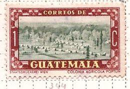 PIA - GUATEMALA - 1950 : Uso Corrente - Colonia Agricola Di Poptum -  (Yv 344) - Guatemala