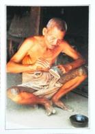 Birmanie Pagan   Artisan Laqueur  Arbre Thitsi   Tatouage   Années   80s - Postales