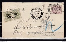 Brief Van Picarcy Belvedere Naar Anvers Arrivee - 1840-1901 (Regina Victoria)