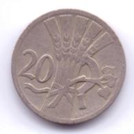 CZECHOSLOVAKIA 1926: 20 Haleru, KM 1 - Tchécoslovaquie