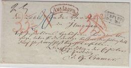 Preussen - Erfurt (ca. 1860), Ra2 A. Auslagenbrief N. Ilmenau, Ohne Inhalt - Preussen (Prussia)