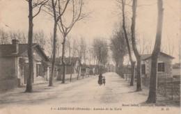 D18- 33) AUDENGE (GIRONDE) AVENUE DE LA GARE  - (PETITE ANIMATION - 2 SCANS) - Autres Communes