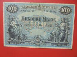 Bayerische Banknote 100 Mark 1 Januar 1900 Circuler Série B.N°18 - [ 2] 1871-1918 : Impero Tedesco