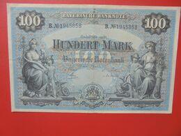 Bayerische Banknote 100 Mark 1 Januar 1900 Circuler Série B.N°19 - [ 2] 1871-1918 : Impero Tedesco