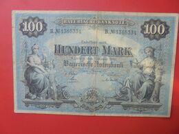 Bayerische Banknote 100 Mark 1 Januar 1900 Circuler Série B.N°13 - [ 2] 1871-1918 : Impero Tedesco