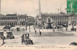 75 PARIS LA PLACE DE LA CONCORDE VUE SUR LE MINISTERE DE LA MARINE - Squares