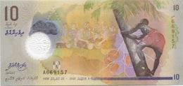 Maldives 10 Rufiyaa 2015 En Plastique UNC - Maldives