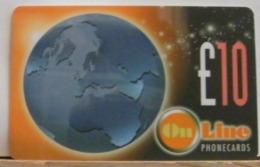 PR159 PREPAGATA - ON LINE TELECOM -10 STERLINE - N° 0158-00003744 - Royaume-Uni