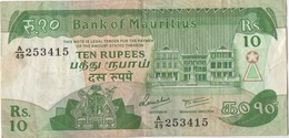 Maurice Mauritius : 10 Rupees (état : Moyen) - Mauricio