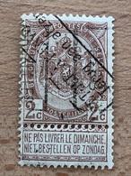 169B Bruxelles 1898 Cachet Retour à L'envoyeur Terug Tan Afzender Petite Zone Mince Voir Scan - Precancels