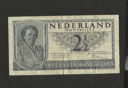 PAYS - BAS / NETHERLANDS / OLANDA - 2 1/2 GULDEN (1945) - [2] 1815-… : Koninkrijk Der Verenigde Nederlanden