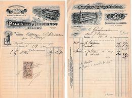 1910 - ANGERS - 5 Factures (voir Détail) - Documents Historiques