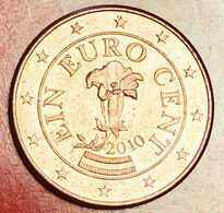 "AUSTRIA - 2010 - Moneta - Genziana - Bandiera - ""EIN EURO CENT"" - Euro - 0.01 - Autriche"