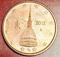 ITALIA - 2012 - Moneta - Mole Antonelliana - Euro - 0.02 - Italie
