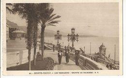 CPA ,Monaco ,N° 40, Monte Carlo ,Les Terrasses - Groupe De Palmiers .Ed. B.F.. - Terrassen