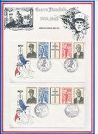 FRANCE - 2 ENV. OBLI ANNIV DE L'APPEL VEDENE 18.06.90 + ANNIV DEBARQUEMENT EN NORMANDIE TROUVILLE 06.06.89 - De Gaulle (General)