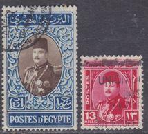 Egypte N° 274 / 75 O   Roi Farouk, Les 2 Valeurs  Oblitérées Sinon TB - Gebraucht