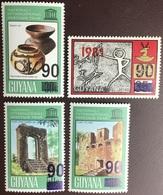 Guyana 1983 90c Surcharges Overprint Set MNH - Guyana (1966-...)