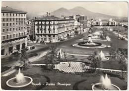 NAPOLI - PIAZZA MUNICIPIO - VIAGG. 1961 -TARGHETTA-5234 - Napoli