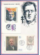 FRANCE - CARTE + FDC DE GAULLE OBLITERATION ANNIVERSAIRE DE L'APPEL VEDENE 18-19.06.90 - De Gaulle (General)