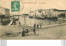 17 SAINT-MARTIN-DE-RE. Bateaux De Pêche Au Port 1923 - Saint-Martin-de-Ré