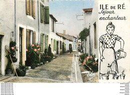 Photo Cpsm 17 ILE DE RE. La Venelle Aux Fleurs 1958 - Ile De Ré