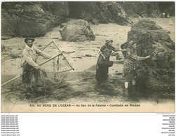 L. 33 AU BORD DE L'OCEAN. La Cueillette Des Moules Au Bas De La Falaise - France