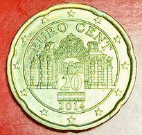 AUSTRIA - 2014 - Moneta - Palazzo Del Belvedere - Euro - 0.20 - Autriche