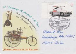 Deutschland 2004. Schmuckbrief 75.Todestag W. Maybach U. K. Benz, SSt., EF Mi 2291, Bedarf - Voitures