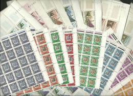 ANDORRA- 25 SERIES C 17 V.  C. M. ABAD Nº 153A/164 + Nº 213A  YVET Nº 153A/164. P. C.  2.632,50 €; OFERTA 53 ANIVERS - Blocchi & Foglietti