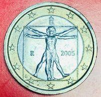 ITALIA - 2005 - Moneta - Leonardo Da Vinci, Proporzioni Ideali Del Corpo Umano - Euro - 1.00 - Italie