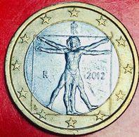 ITALIA - 2012 - Moneta - Leonardo Da Vinci, Proporzioni Ideali Del Corpo Umano - Euro - 1.00 - Italie