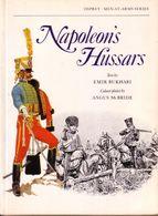 LIVRE - OSPREY - NAPOLEON'S HUSSARS , TEXT BY EMIR BUKHARI , COLOUR PLATES ANGUS MC BRIDE - 1978 - Autres