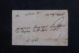 FRANCE - Marque Postale De Toulouse Sur Lettre Pour Albi En 1705 - L 65216 - 1701-1800: Precursori XVIII