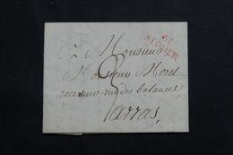 FRANCE - Marque Postale De St Omer En Rouge Sur Lettre Pour Arras - L 65217 - 1801-1848: Precursors XIX