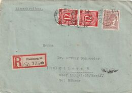 All.Besetzung / 1947 / Reco-Brief MiF Ex Hamburg (CD52) - American,British And Russian Zone