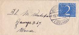 Nederland - Stempel Nieuwerkerk (Zeeland) Zeeland - 15 Juni 1950 - Enveloppe Visitekaartje - NVPH 461 - Poststempel