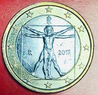 ITALIA - 2017 - Moneta - Proporzioni Ideali Del Corpo Umano, Disegno Di Leonardo Da Vinci - Euro 1.00 - Italie