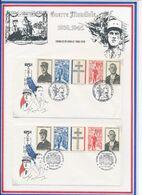 FRANCE - 2 ENV. OBLI 1990 ANNEE DE GAULLE LEVALLOIS PERRET 04.90 + 40E ANNIV DEBARQUEMENT ARROMANCHES 06.06.89 - De Gaulle (General)