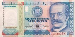Peru 500.000 Intis, P-147 (21.12.1989) - UNC - Perú