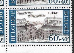 1385-V En Bloc De 10 Timbres Coins De Feuille - Variété P1 T18 Neige Sur Le Toit  (Alb. Noir N° 37) - Varietà E Curiosità