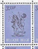 1401-V Bloc De 4 Timbres - Coin De Feuille - V Bulle Supplémentaire P4 - T1 (Alb. Noir N° 19) - Varietà E Curiosità