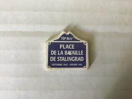 Fève Plate MH Moulin à Huile / PLAQUES DE RUE - PLACE DE LA BATAILLE DE STALINGRAD - PARIS 19eme - Regionen