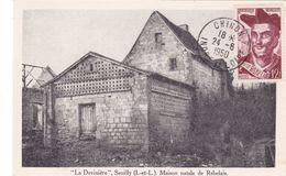 FDC Y&T N° 866 François RABELAiS - Chinon (37) Le 24 Juin 1950 - Carte Postale Maximum 1 Er Jour Seuilly La Devinière - 1950-1959