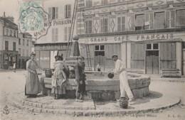 I6- 77) LA FERTE GAUCHER - LE GRAND BASSIN - (TRES ANIMEE - GRAND CAFE FRANCAIS - EPICERIE P. DUPUIS) - La Ferte Gaucher