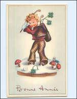 Y17198/ Bonne Annee Kind Spielt Golf,  Pilze AK  - Nieuwjaar