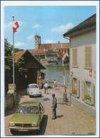 Y17170/ Grenze Zoll  Stein AG - Bad Säckingen  Schweiz AK VW Käfer, Opel - Postkaarten