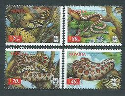 Ukrania - Correo Yvert 454/7 ** Mnh Fauna Serpientes - Ukraine